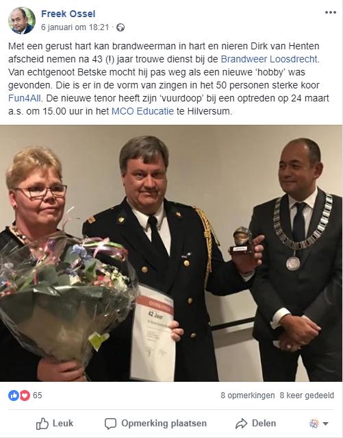 Bericht Facebook burgemeester