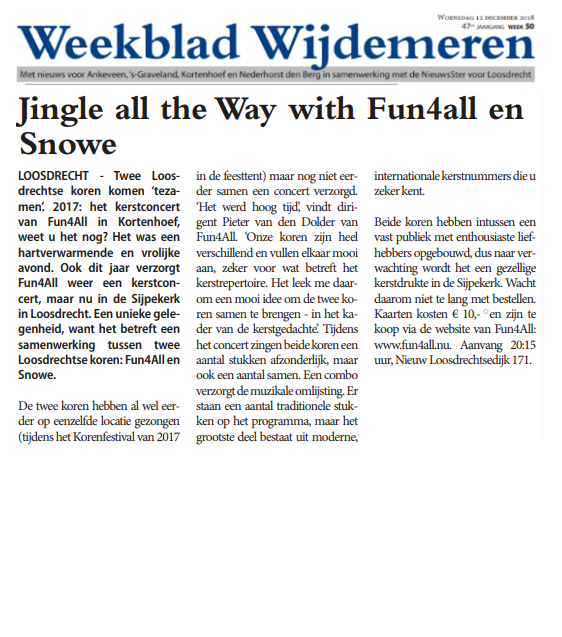 Weekblad Wijdemeren 12 december 2018