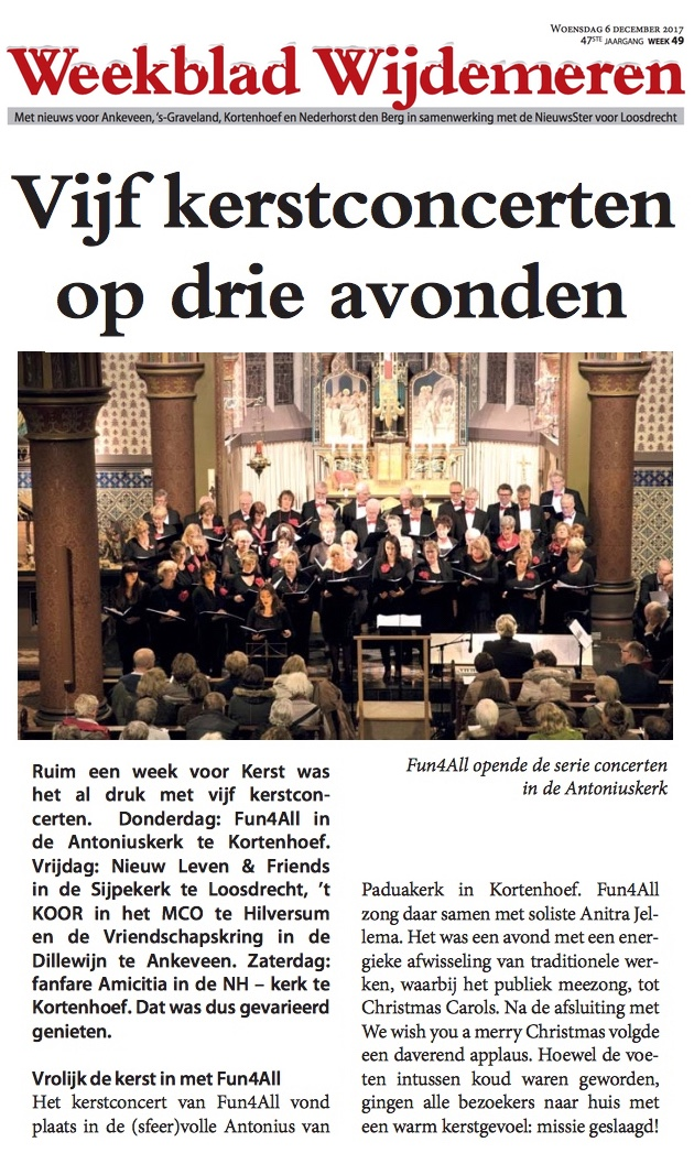 Weekblad Wijdemeren 6 december 2017